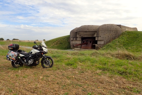 Normandy - one of many bunkers that still remain