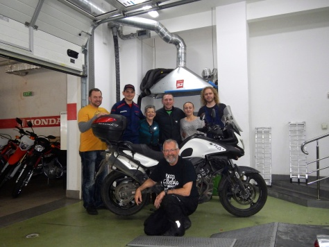 Kiev Ukraine - Workshop wished us a happy and safe journey