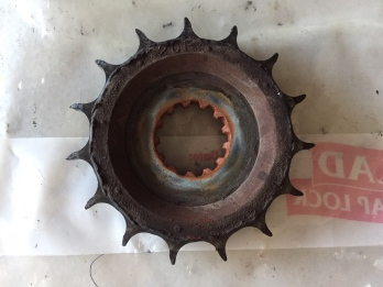 This front sprocket just made it to the end - Installed in Italy and out lasted 2 chains and 49,800Km's - No bad...