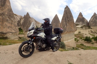 Vstrom was perfect for navigating through the Fairy Chimneys of Cappadocia Turkey