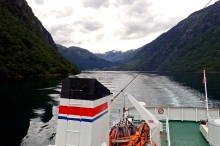 Loving the scenery - Ferry from Hellesylt to Geiranger in Norways Geiranger Fjord