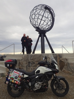 We made it ! Nordkapp - Norways and the European Continent most Northern point.