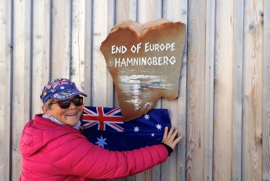 Flying the flag ! - An old fishing village, Hamningberg is the most North East point in Norway